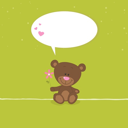 Lovely bear Vector