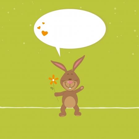 snatch: Lovely bunny with orange flower