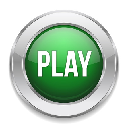 control tools: Green round play button Illustration