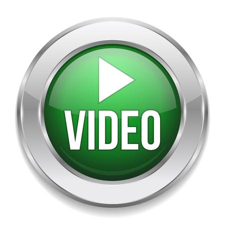 watch video: Green silver video button