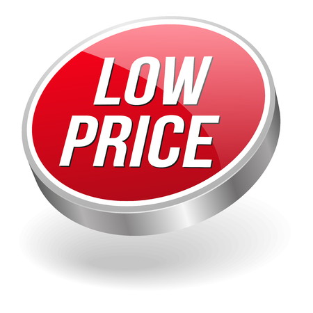 lowest: Red silver low price button