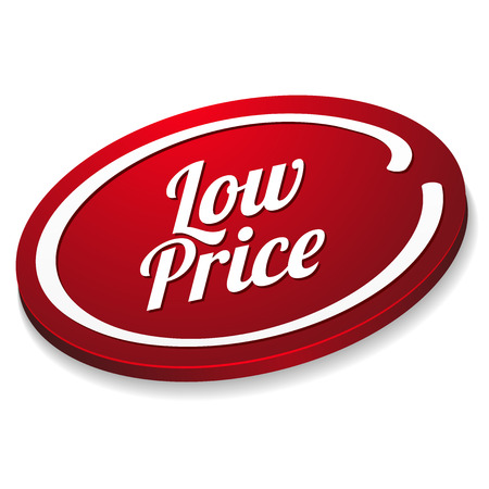lowest: Red oval low price button
