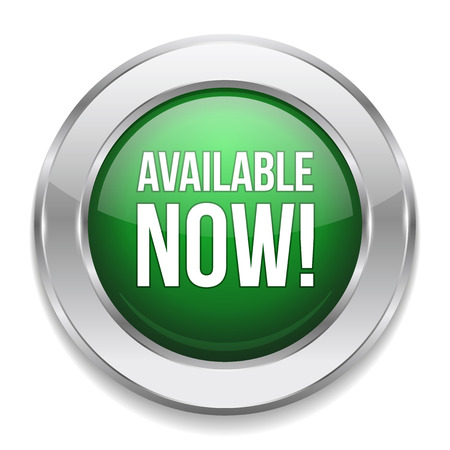 order now: Green silver available button Illustration