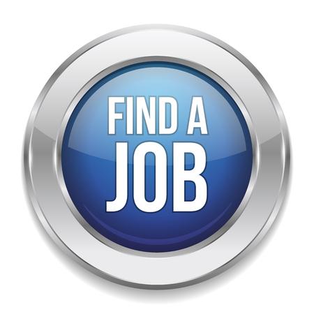 find a job: Blue round find a job button