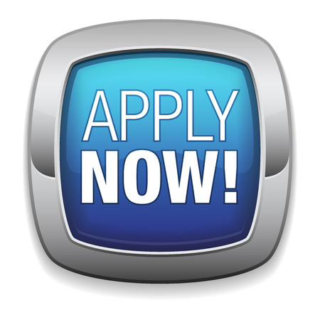apply: Rounded blue apply now button