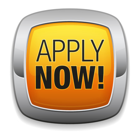 apply now: Rounded yellow apply now button