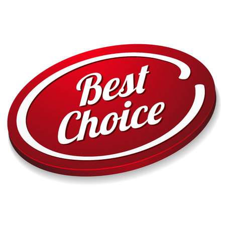 Red oval best choice button Vector