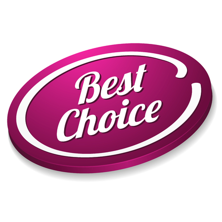 shiny buttons: Pink oval best choice button