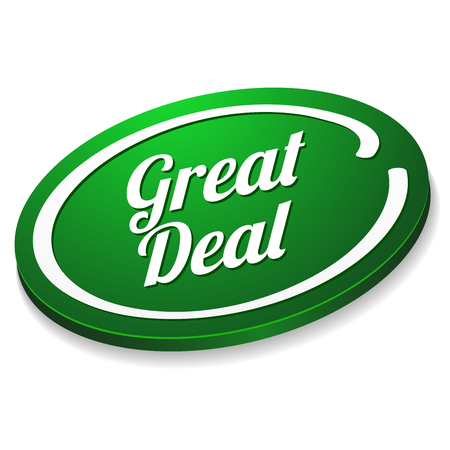 special offer: Green oval great deal button