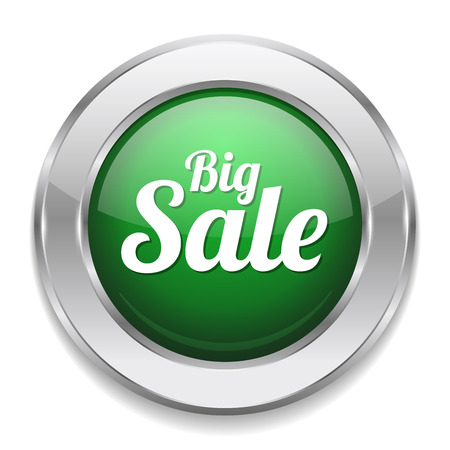hot deal: Green silver big sale button