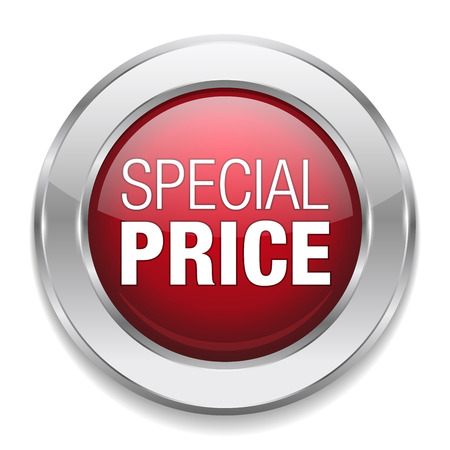 Silver red special price button Illustration
