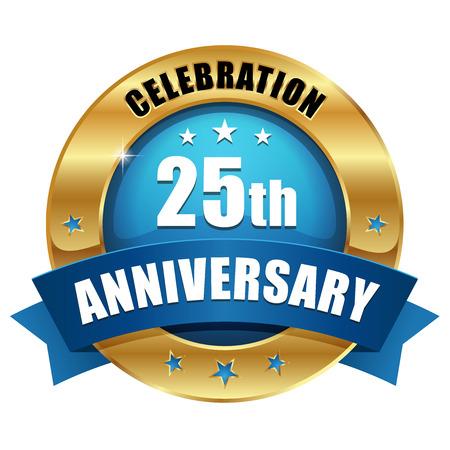 Blue gold thirty year anniversary badge