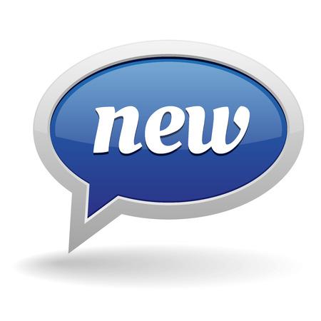 Big blue new speech bubble