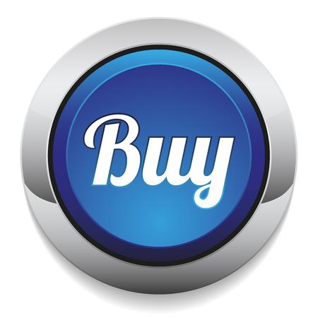 add button: Blue round buy button with metallic border