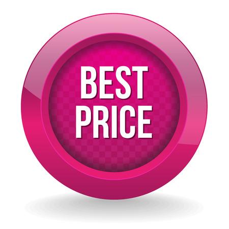 Purple round best price button