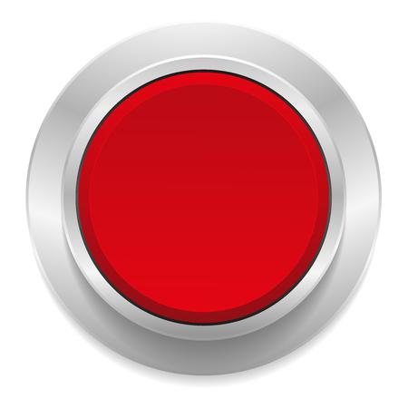 red metallic: Red round button with metallic border