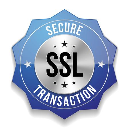transakcji: Niebieski znaczek transakcji bezpieczne