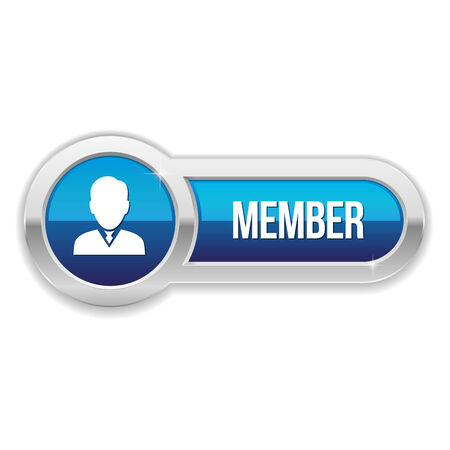 only members: Long blue member button with metallic border