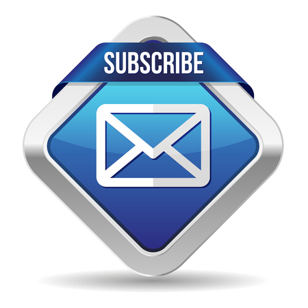subscribe: Blue square subscribe button with metallic border