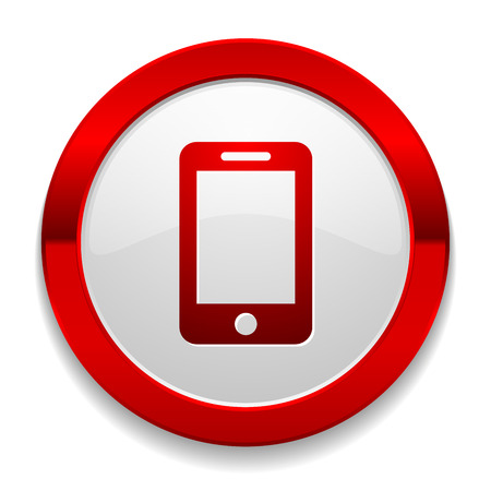 phone button: Red round button with phone icon