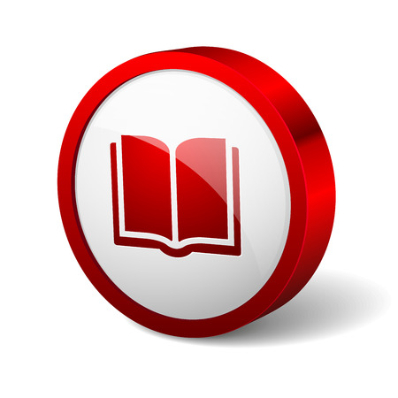edition: Red round button with book icon