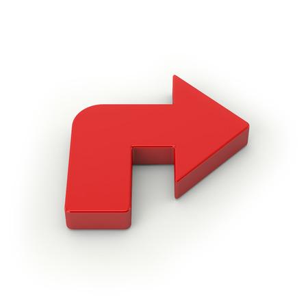 Big red arrow on white background Stock Photo - 28469037