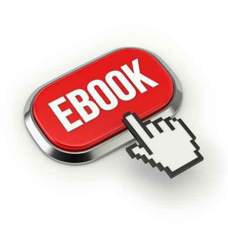 elettronic: Red roundend ebook button with metallic border