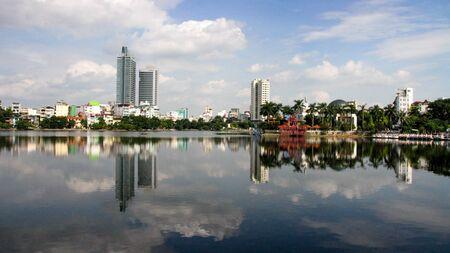 reflection of hanoi, vietnam