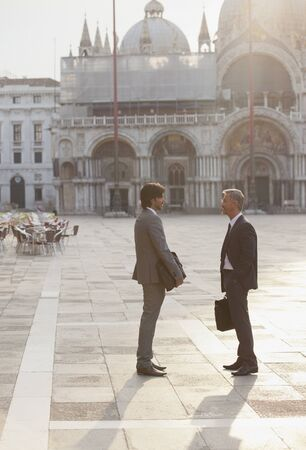 st  mark's: Businessmen talking in St. Marks Square in Venice