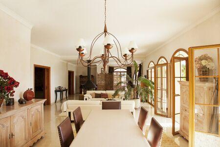open floor plan: Luxury dining room