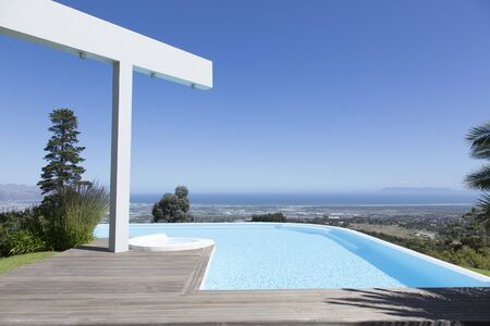 Infinity pool overlooking hillside