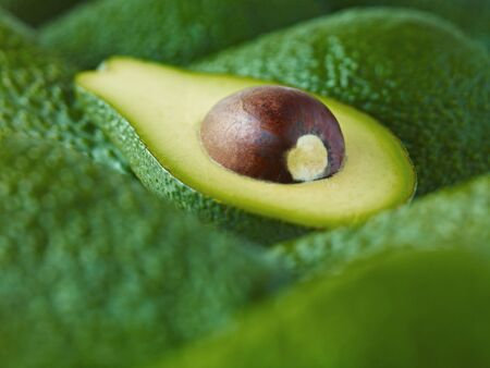 Extreme close up of sliced Pinkerton avocado LANG_EVOIMAGES