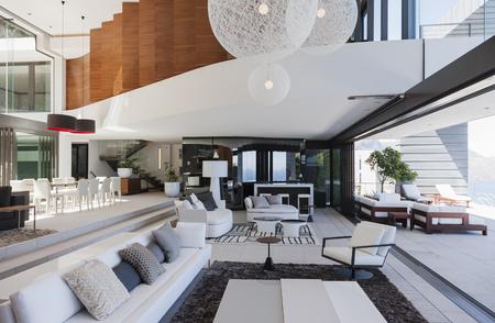 living room design: Living room in modern house