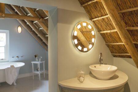 attic: Luxury attic bathroom