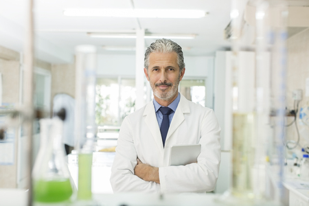 Portrait of confident scientist in laboratory