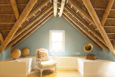 attic: Armchair in luxury attic