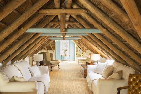 attic: Luxury attic living room