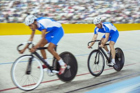 velodrome: Track cyclists in velodrome