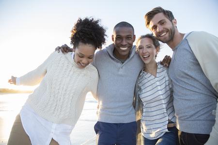 jamaican ethnicity: Portrait of four friends having fun
