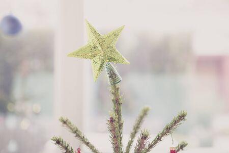 topper: Golden star Christmas tree topper