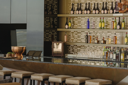 Luxury bar and barstools