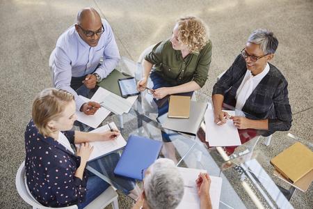 strategizing: Business people talking in meeting