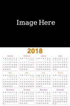 12 months Calendar Design 2018 printable and editable.