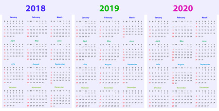 12 Months Calendar Design 2018 2019 2020 Printable And Editable