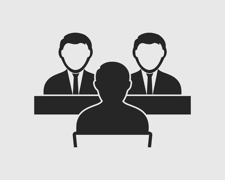 Ikona panelu wywiadu na szarym tle
