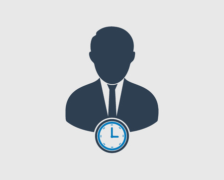 Schedule manager icon on gray background. Flat style vector EPS. Vektorové ilustrace