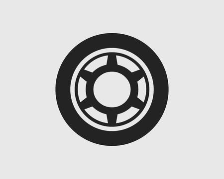 Car tear Icon on gray backgorund. Flat icon vector eps.