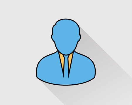Corporate Man colorful Icon on gray background.
