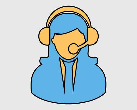 Coloroful Female Customer service icon.