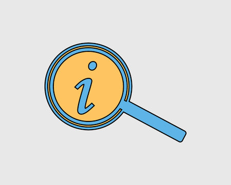 Colorful Information line Icon on gray background Stock Illustratie